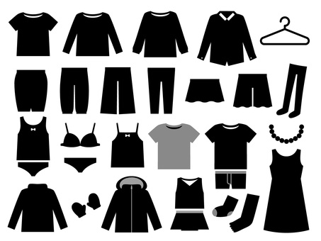 Clothing silhouette set material