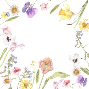 Around flowers