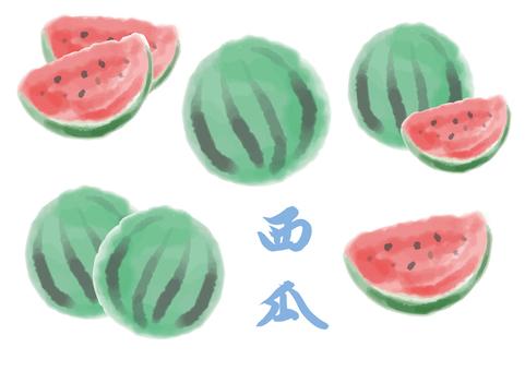 Saijo fruit watercolor