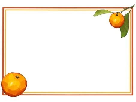 Fresh orange orange frame