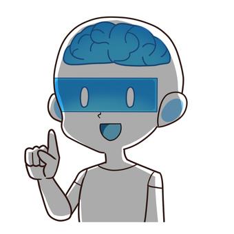 人工知能・人型ロボット 影バージョン