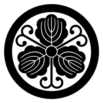 Maru ni 蔓 柏 Japanese family crest