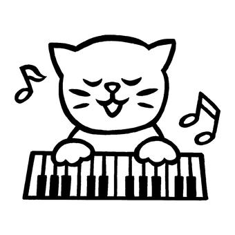음악 고양이 피아노
