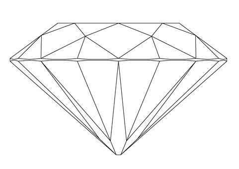 Cut Diagram of Diamond (Side View)