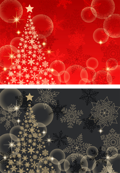 Christmas tree and snowflake glitter background
