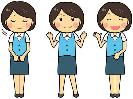 Working woman pose collection / company employee / OL / office worker