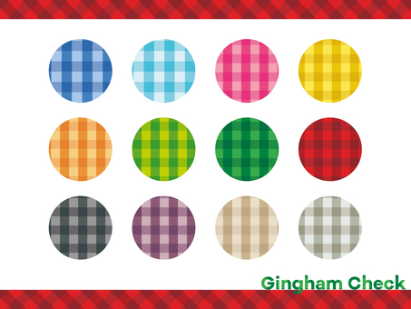 Simple pattern gingham check