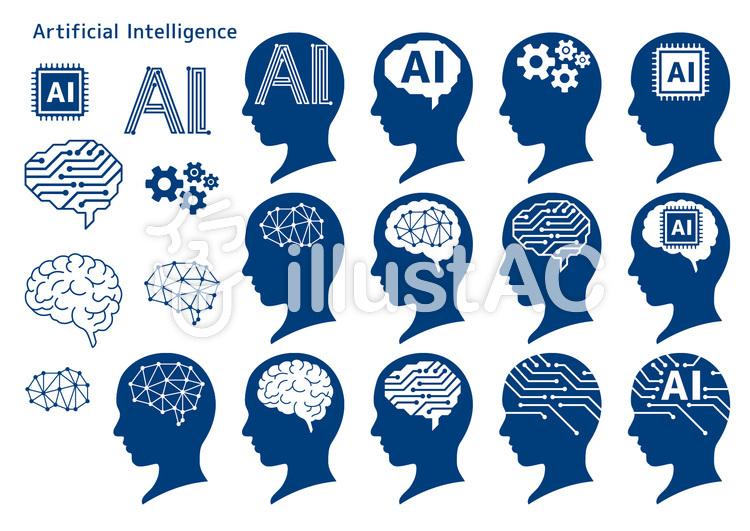 人工知能_セット02-01のイラスト