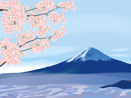 Cherry blossoms and Mt. Fuji image