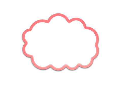 Cloud shaped balloon (pink, hollow)