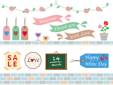 Shop material (White day)