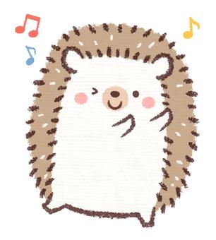 Hedgehog dancing