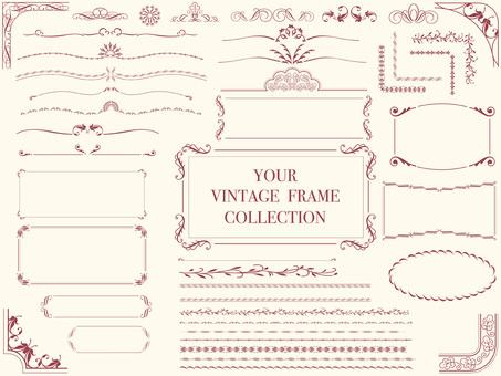 Various vintage frames 1
