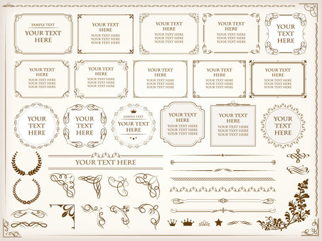 Antique frame set / png character none
