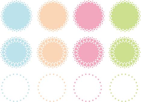 Banner set of dot gradient