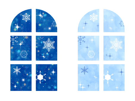 Snow crystal window