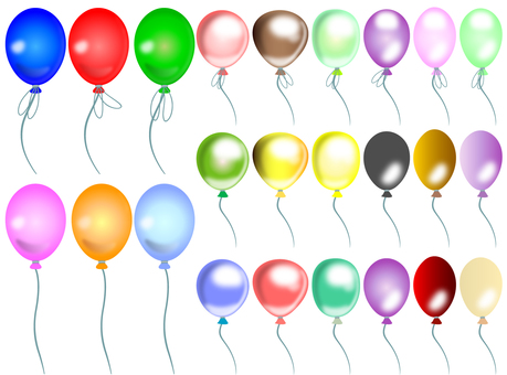 Balloons filled material 01