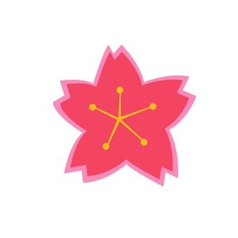 Cherry blossoms (red)