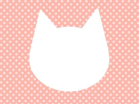 고양이 형 프레임 흰색 거푸집 점