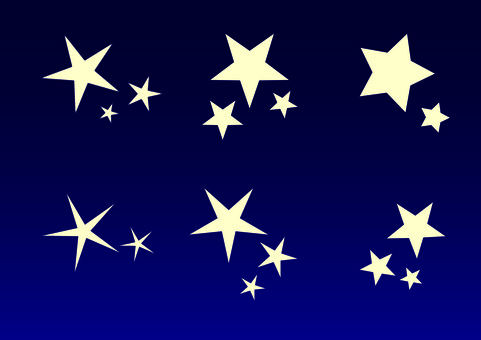 A variety of star shapes.