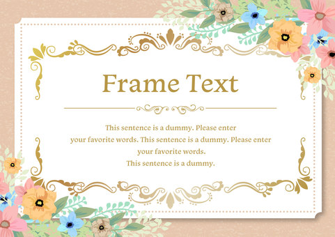 Girly material 031 Flower frame