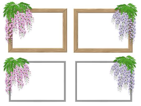 등나무 꽃 프레임 세트