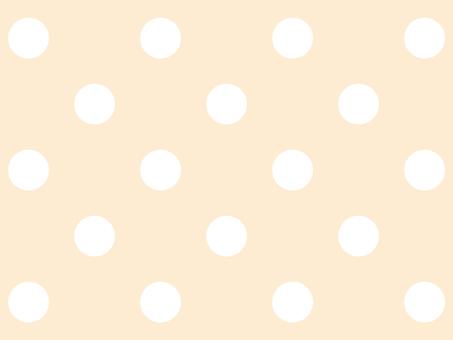 Big polka dot pale orange background