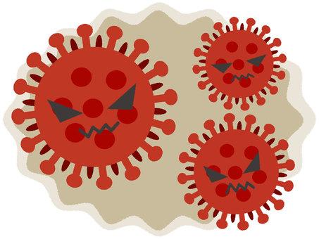 코로나 바이러스 (얼굴 있음) 2