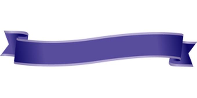 Ribbon title blue