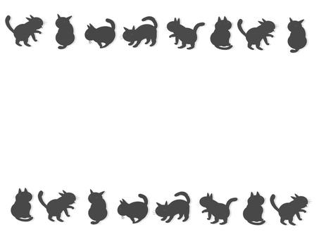Black cat's matrix frame