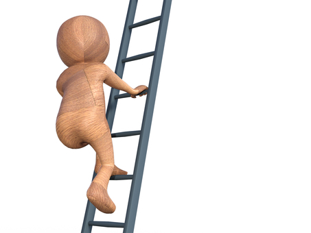 Successful rise of effort by ascending ladder