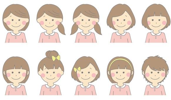 Girls hairstyle list Pink