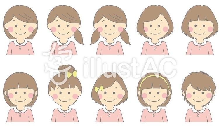 女の子 髪型一覧 ピンク