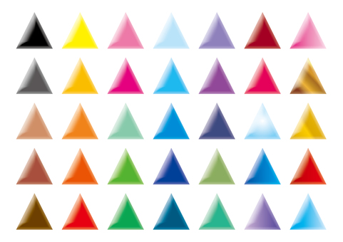 Embossed triangle