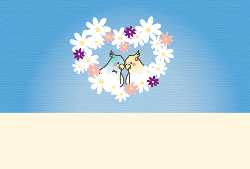 작은 새와 꽃