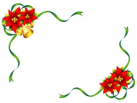Poinsetti ribbon frame