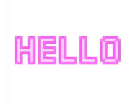Hello HELLO dot picture illustration