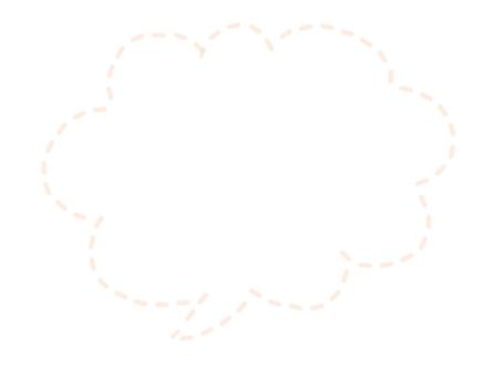 Dotted Speech Bubble (Pale Orange)