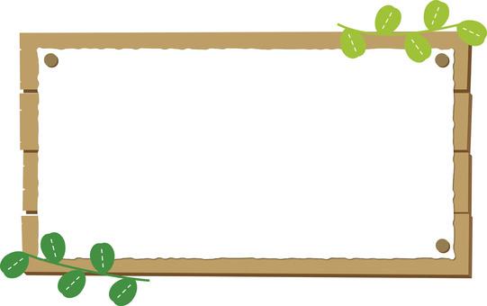 欢迎板(木材和纸)