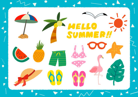 【Summer】 Free Illustration Set