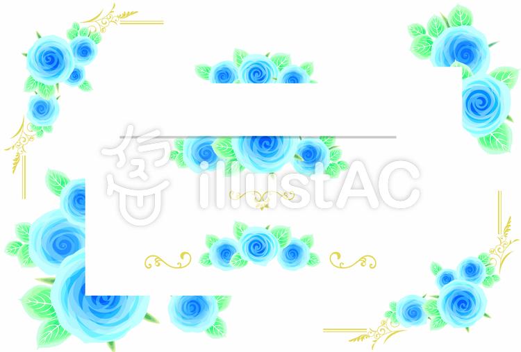 バラの飾り枠04のイラスト