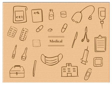 手拉的醫學醫療茶導線