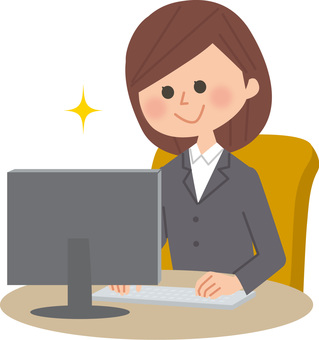 A woman who plays a personal computer