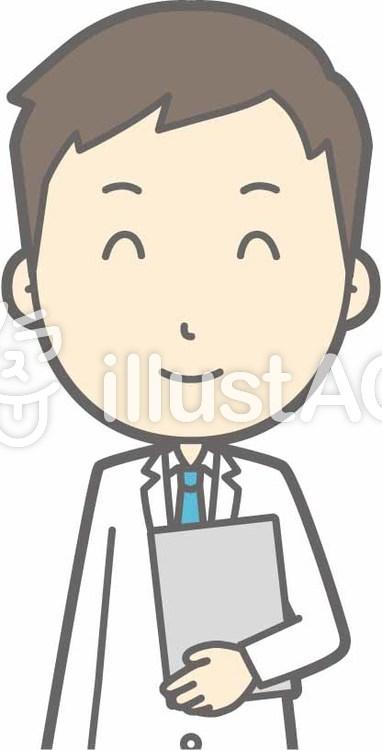 青年医師-ファイルニコニコ-バストのイラスト