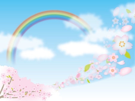 Sakura and rainbow