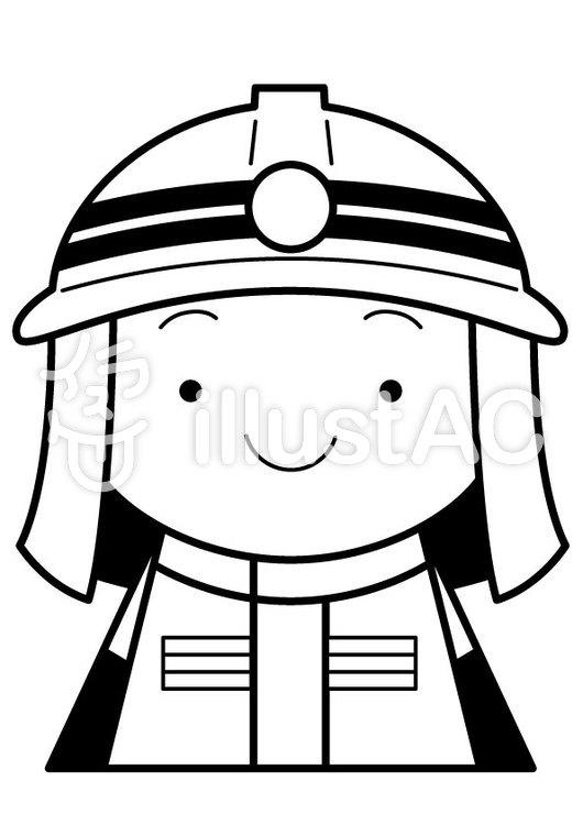 消防士1cのイラスト