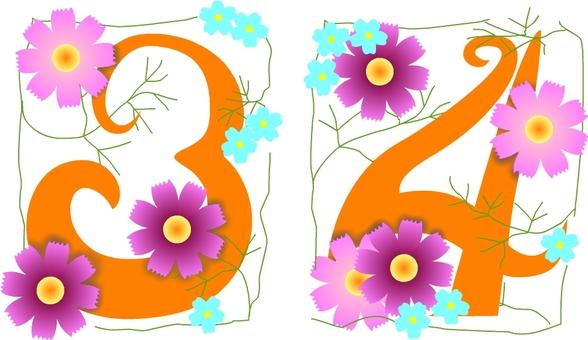 Cute numbers (3, 4)