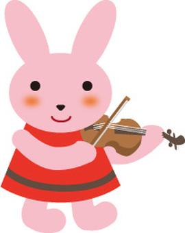 ヴァイオリンを弾くうさぎ