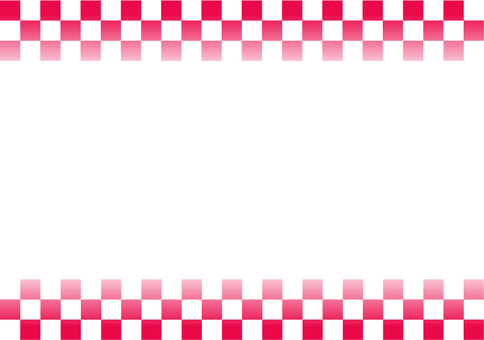 Red and white lattice frame G