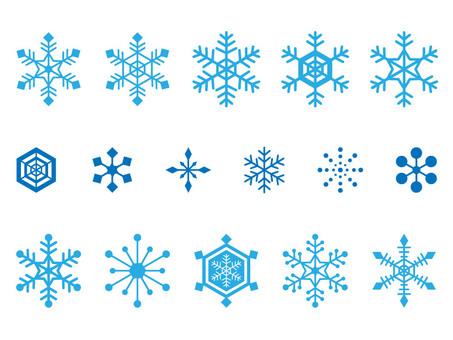 Snow crystal set (transparent background)
